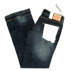 SuperDry Jeans Loose Rigid Raw Resin Black Label